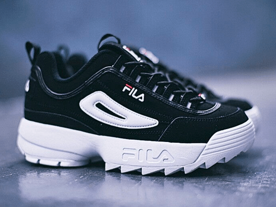 Кроссовки Fila Disruptor 2 Black White Suede