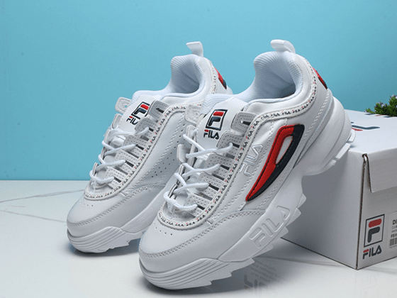 Кроссовки Fila Disruptor II White Red Black