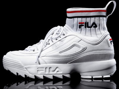 Кроссовки Fila Disruptor 2 ECO Sockfit all white